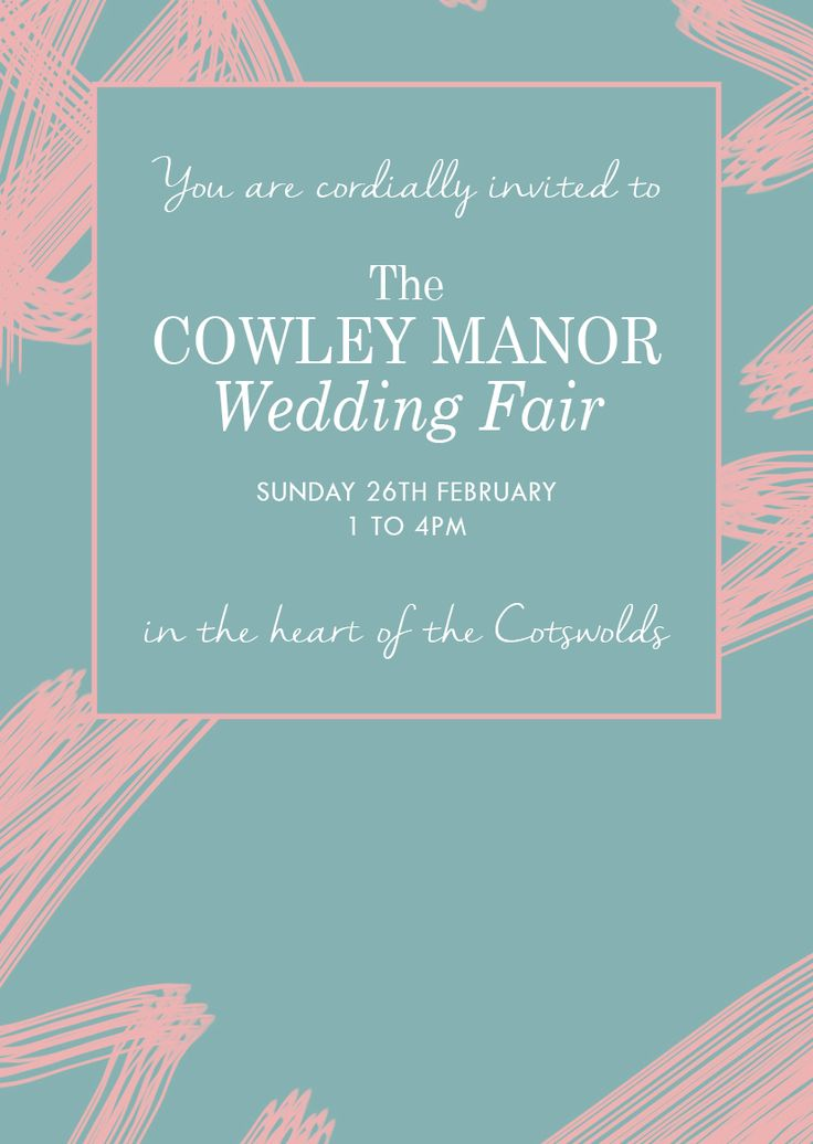 In need of some wedding inspiration? Visit Cowley on Sunday 26th February for our Cowley Manor Wedding Fair! Email weddings@cowleymanor.com to book your place.