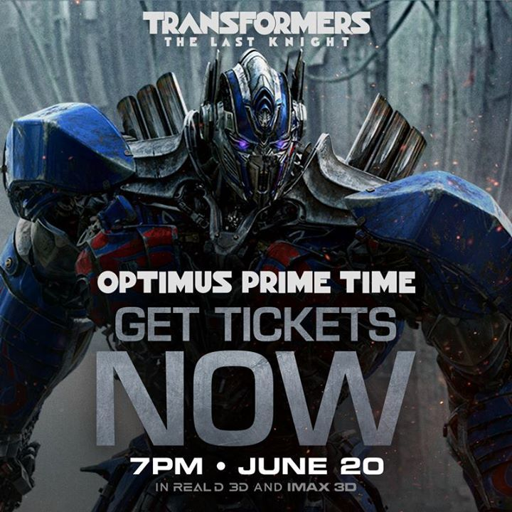 7PM on June 20th is Optimus Prime Time. Be the first to see #Transformers: The Last Knight at this special opening night event and receive an exclusive Transformers t-shirt. Get your tickets today: tickets.transformersmovie.com #KandZ