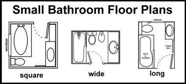 3 small bathroom floor plans