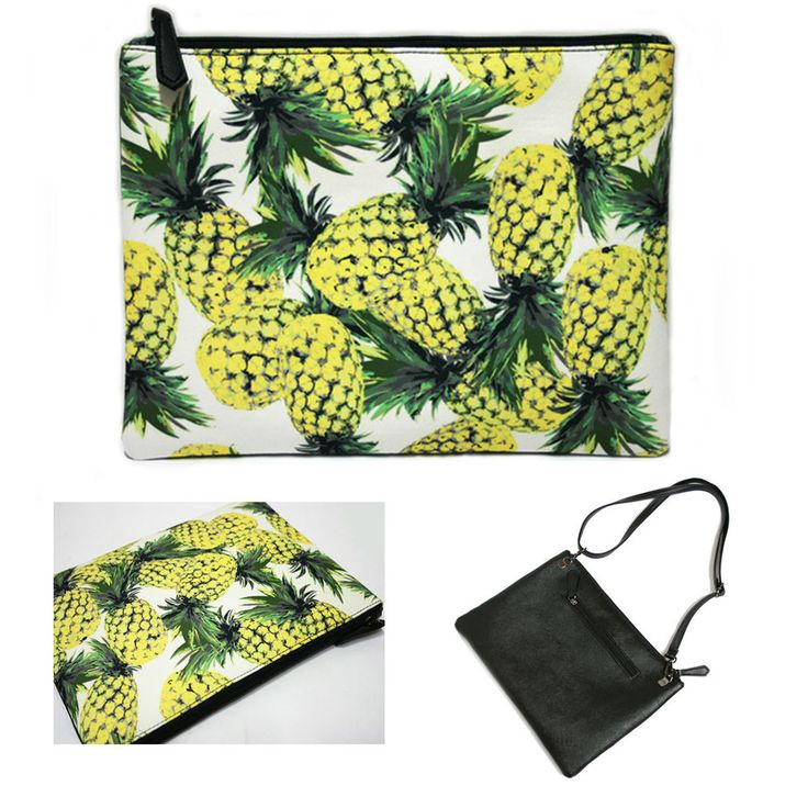 Korea Women Pineapple Clutch Cross Bag Handbag Pouch Faux Leather Polyester New #KoreaBrand #Clutch