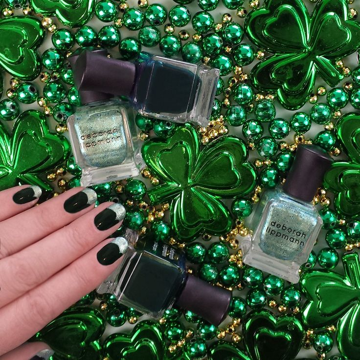 Need something green to wear in a pinch? Coat on a festive manicure with @deborahlippmann this #StPatricksDay