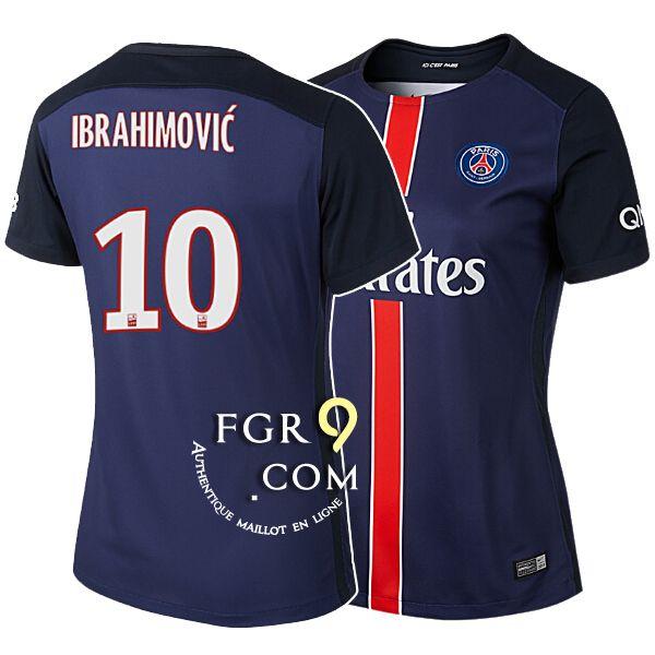 tenue football pas cher Vente PSG maillot de foot femme 2016 ibrahimovic domicile pas cher