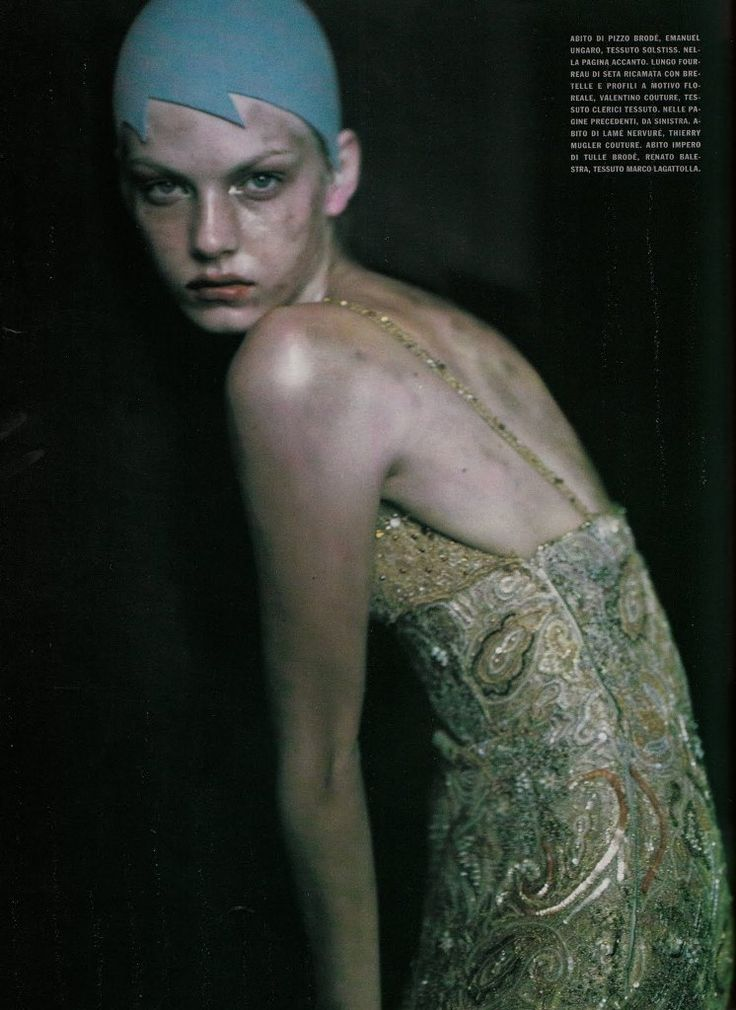 Angela Lindvall & Stella Tennant by Paolo Roversi for Vogue italia September 1999
