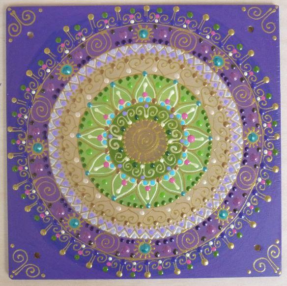 lila Napspirál mandala / purple Sunspiral mandala