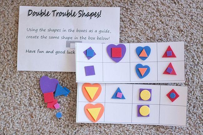 Busy Bag Exchange: Preschool Bags from Second Story Window - Double Trouble Foam Pattern Grids
