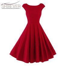 SHIBEVER Linii Sukienki Kobiety Odzież W Stylu Vintage Letnie sukienki Na Co Dzień Duża Huśtawka Moda Eleganckie Suknie Bez Rękawów Sexy LDD30(China (Mainland))