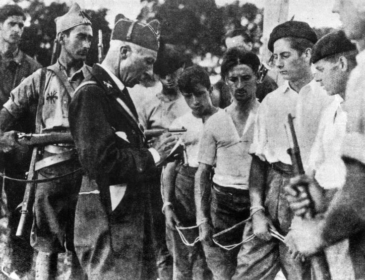 SPAIN. Soldiers, (maybe Basque) Republican prisoners of Franquist group