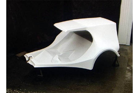 Three Wheels and More Delivery Cab trike body Three Wheels and More fiberglass trike body, VW ...