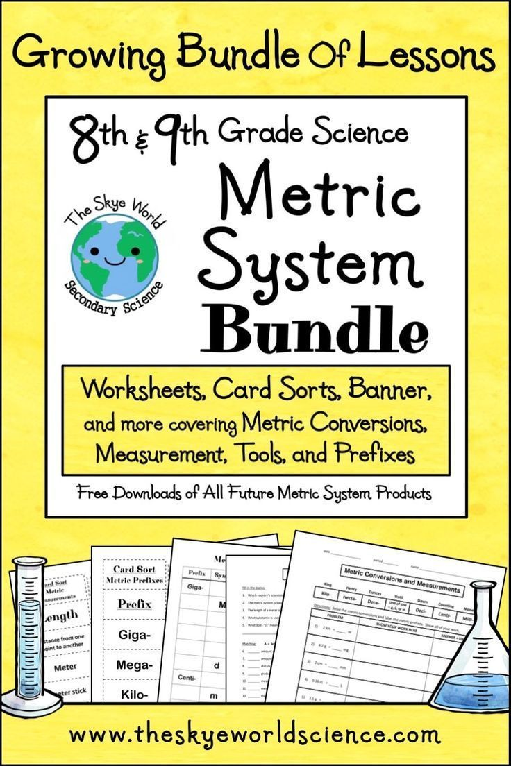hight resolution of This metric system bundle includes worksheets
