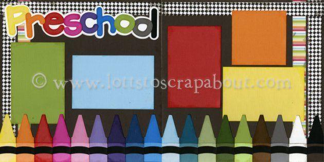 Preschool Scrapbook Page Kit