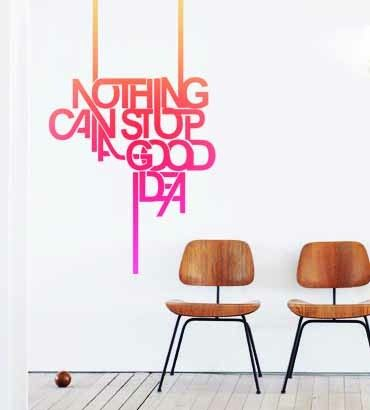Streetwallz - Nothing Can Stop a Good Idea Wall Decal, $75.00 (http://www.streetwallz.com/nothing-can-stop-a-good-idea-wall-decal/)