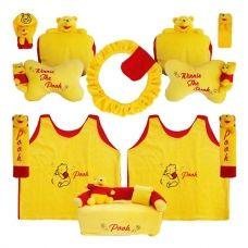 Grosir Bantal Mobil Murah di surabaya dengan motif Bantal Mobil 8 in 1 Boneka Winnie The Pooh. Tersedia berbagai macam bantal mobil dengan design unik dengan warna menarik aplikasi bordir halus dan nyaman di pakai.