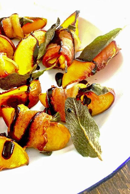 Roasted Bacon and Sage Peaches