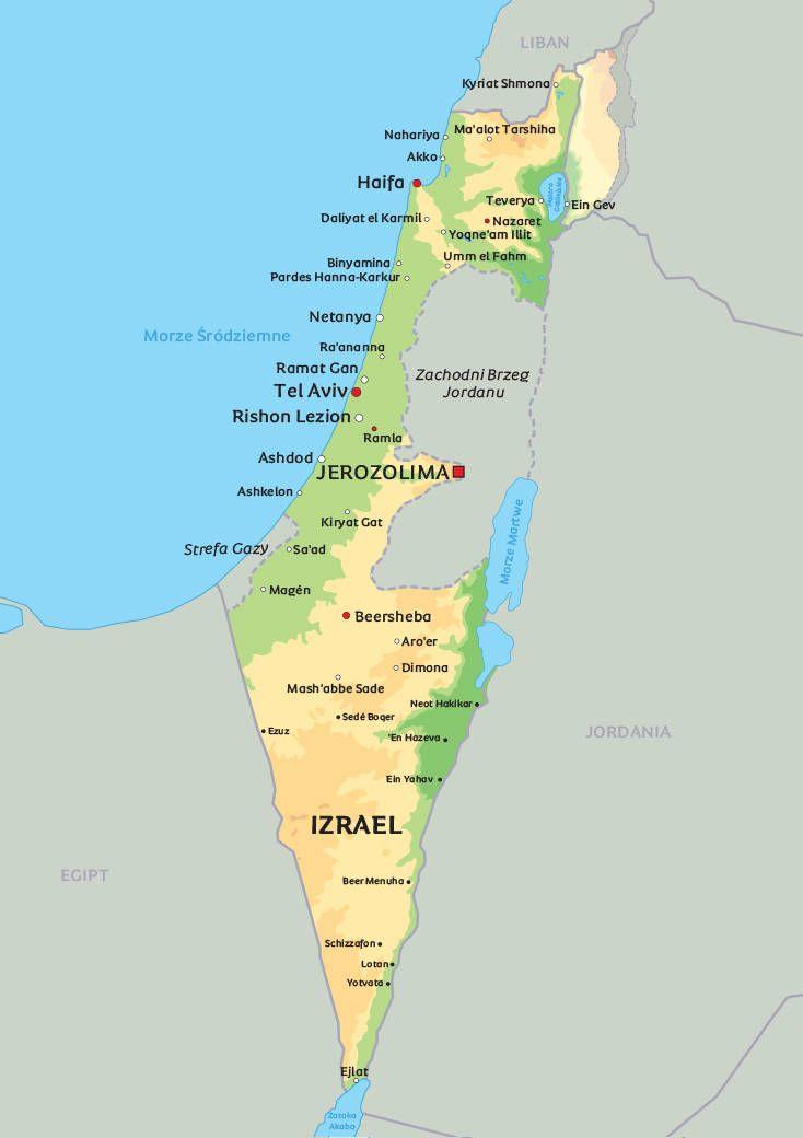 Izrael Z Jordania W 8 Dni Mapa