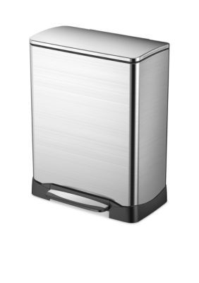 Household Essentials Stainless Steel 50L Neo Cube Step Soft Close Bin