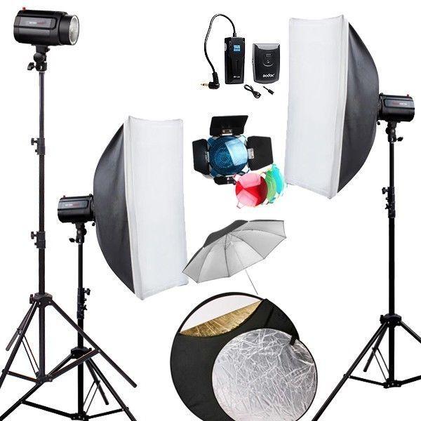 GODOX 360ws 360w Pro Studio Strobe Photo Flash Light Softbox Lighting kit #Godox