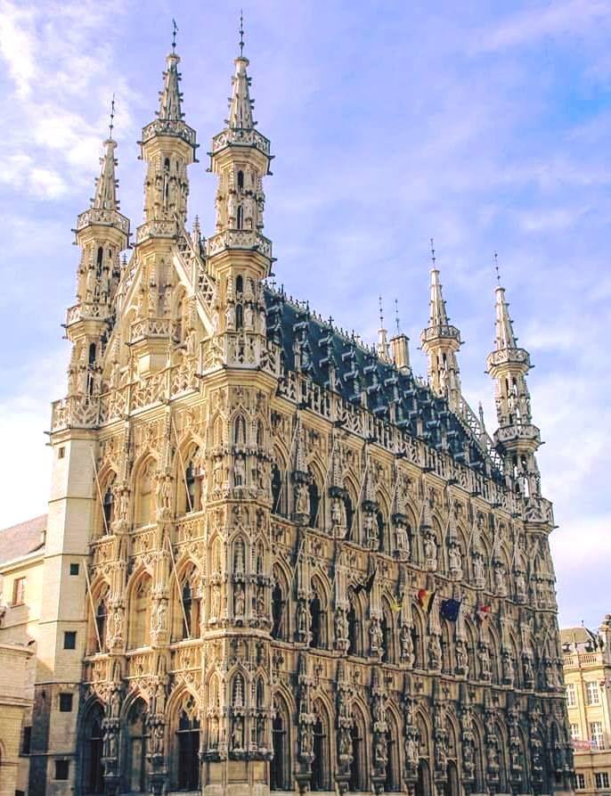 Camara Municipal De Lovaina Belgica Foi Construido Em Estilo