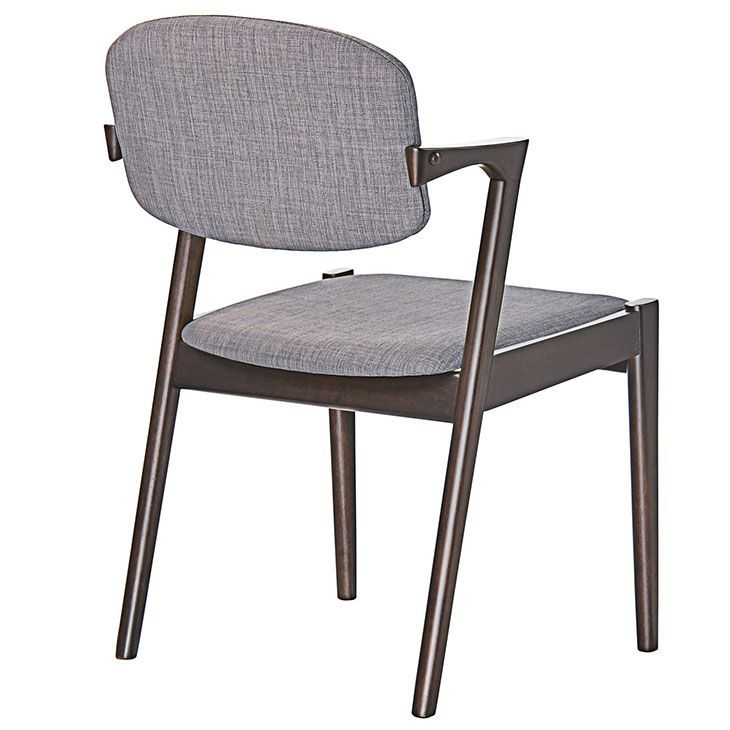 Spunk Dining Armchair in Walnut Gray, Walnut Gray - A touch of charm, dash of grace, and healthy dose of inspiration went into designing the Spunk Vintage Modern Wood Dining Chair. Made of solid walnut rubberwood, and a linen upholstered foam back and seat, Spunk expresses courage and determination in great abundance. Perfect for vintage modern, urban, ranch, and transitional decors, Spunk is a unabashedly feisty piece with a calming look. Set Includes: One - Spunk Dining Armchair. Material…