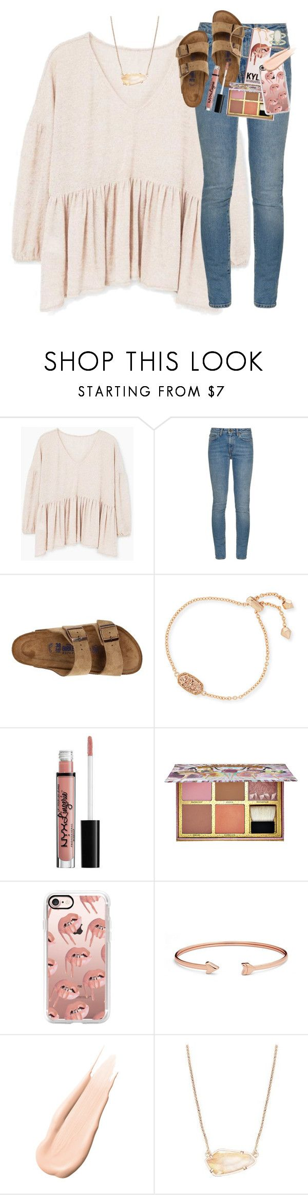 """when i count my blessings i count you twice ;)"" by classynsouthern ❤ liked on Polyvore featuring MANGO, Yves Saint Laurent, Birkenstock, Kendra Scott, Benefit, Casetify, FOSSIL and Hourglass Cosmetics"