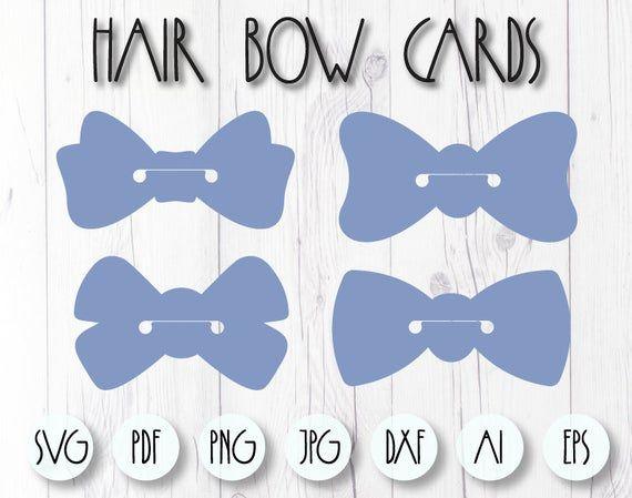 Hair Bow Card Svg Bow Holder Svg Hair Bow Scrunchy Svg Bow Etsy Hair Bows Bow Holder Fabric Flower Tutorial