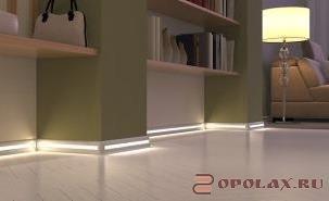 Что такое светодиодная подсветка пола и лестниц, её типы и варианты освещения. Дизайн и светильники для нижнего освещения пола и лестниц в домах, квартирах и других помещениях.
