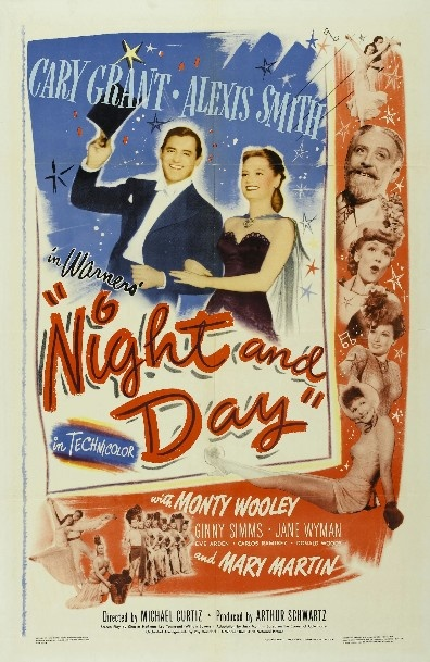 """Night and Day"" is a 1946 Technicolor Warner Bros. biographical film about American composer and songwriter Cole Porter. The movie was directed by Michael Curtiz and produced by Arthur Schwartz, with Jack L. Warner as executive producer. The screenplay was written by Charles Hoffman, Leo Townsend and William Bowers. The music score by Ray Heindorf and Max Steiner was nominated for an Academy Award. The film features over twenty of the best-known Porter songs, including the title song, ""Night…"