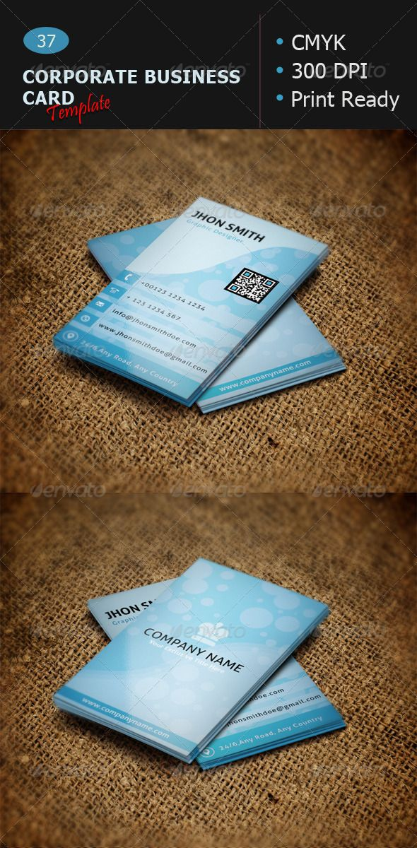 Corporate Business Card Template 37
