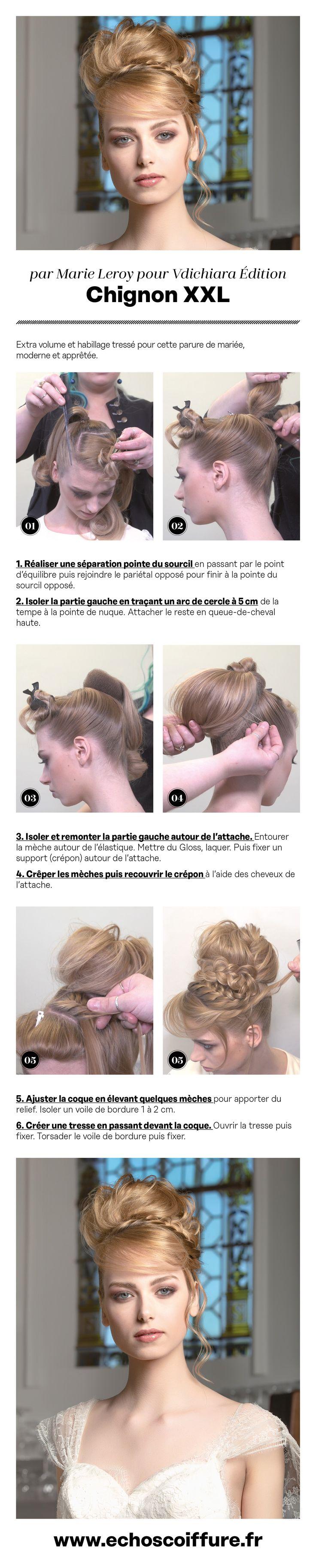 © Lionel Trouillet pour Édition VDICHIARA #Tuto #cheveux #coiffure #chignon #mariés #coiffeur