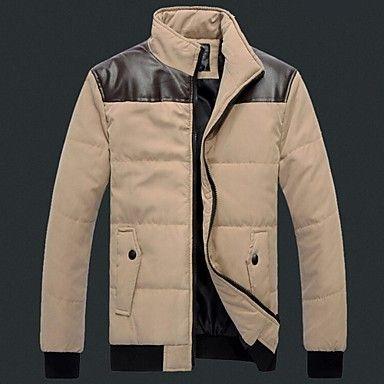 Men's Shoulder With Leather Cotton Coat – EUR € 25.63