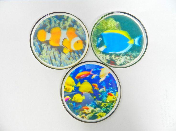 Foto-Untersetzer für Gläser *3er-Set* von Luflom auf DaWanda.com