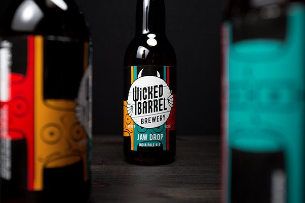 Jaw Drop by Wicked Barrel Brewery #packaging #packagingdesign #craftbeer #beer #graphicdesign