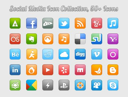 social networking icon collection