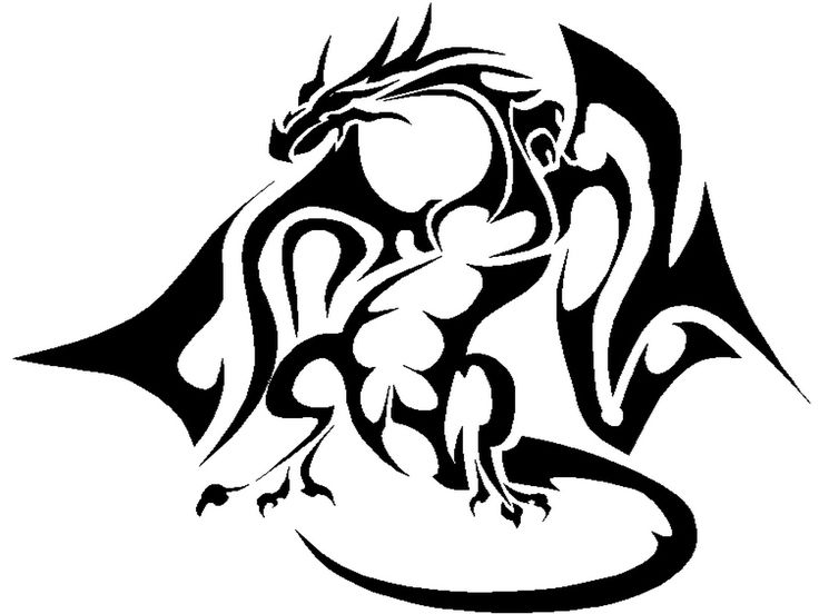 18 best simple black dragon tattoo designs images on