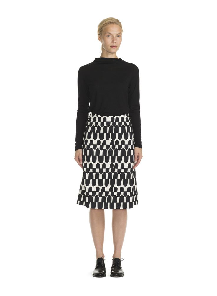 SABINO MARIMEKKO SKIRT BLACK/TURTLE DOVE
