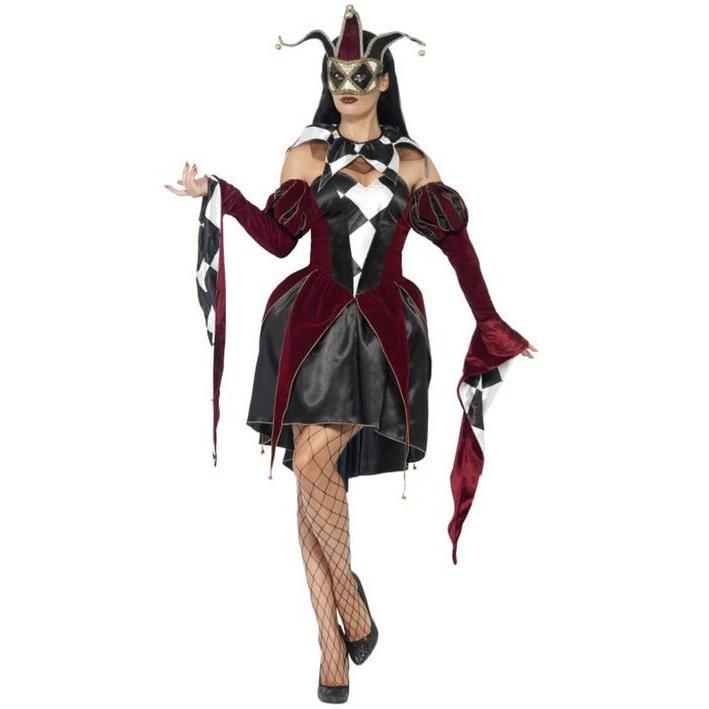 Disfraz de Arlequín veneciano para mujer