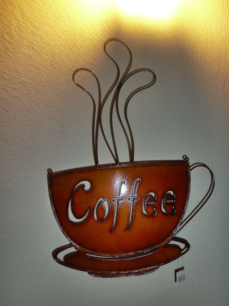 kawa metalowa ozdoba na ścianę