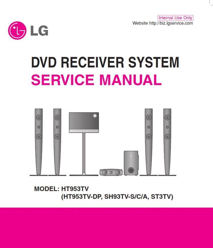 Lg Ht953tv Home Cinema System Original Service Manual And Repair Instructions Home Cinema Systems Repair Guide Home Cinemas
