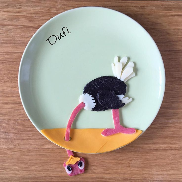 Ostrich food art by @dufi77