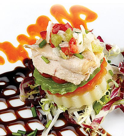 Ensalada de patata, pimientos asados y ventresca de bonito (por El Asador de Abel) #receta #recipe #Gastronomía #Gastronomy #Asturias #ParaísoNatural #NaturalParadise #Spain