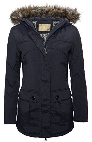 Navy blue winterjacke damen