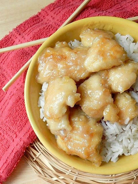 Coconut chicken, like Chinese buffet