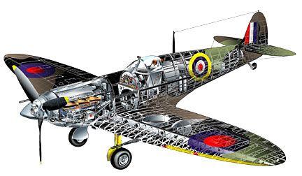 Spitfire Cutaway by George Ladas