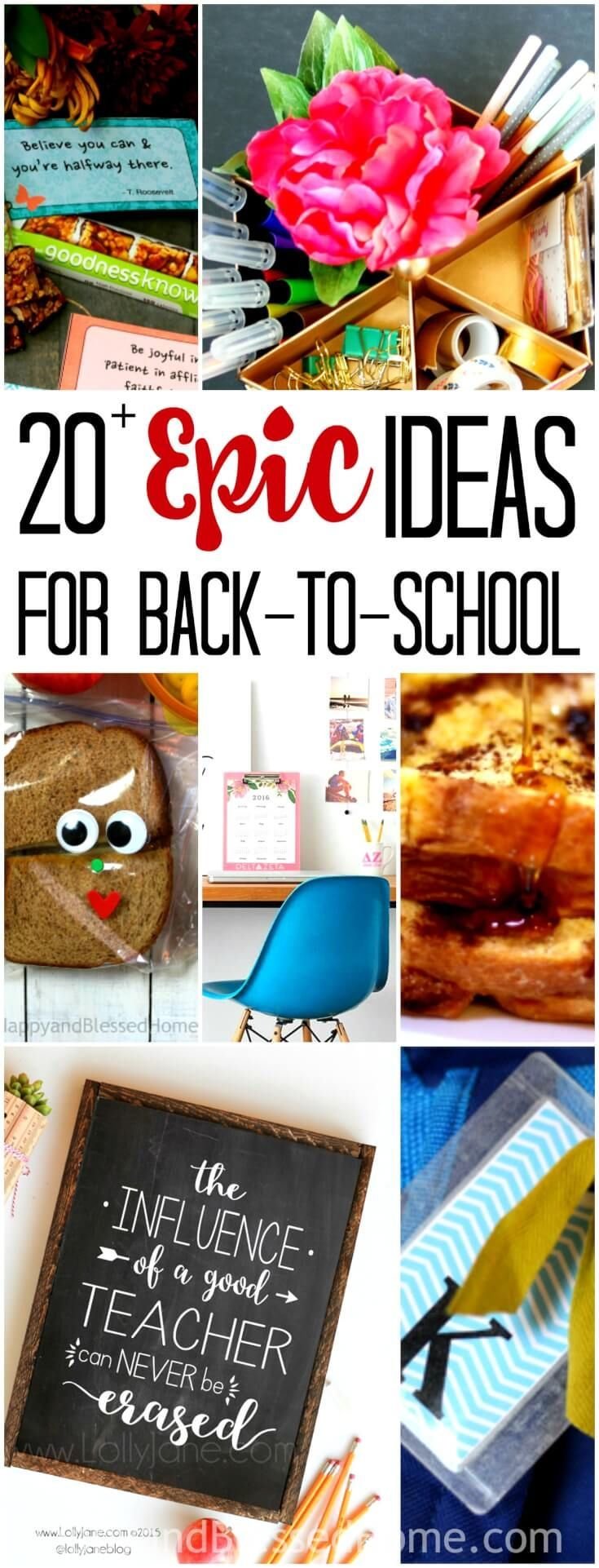 20+ Epic Ideas for Easier Back to School Routines. We need to try a few of these in our house this fall.