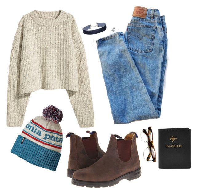 """Here's to new beginnings"" by alcrossmn on Polyvore featuring Levi's, Patagonia, Blundstone, Miss Selfridge and FOSSIL"