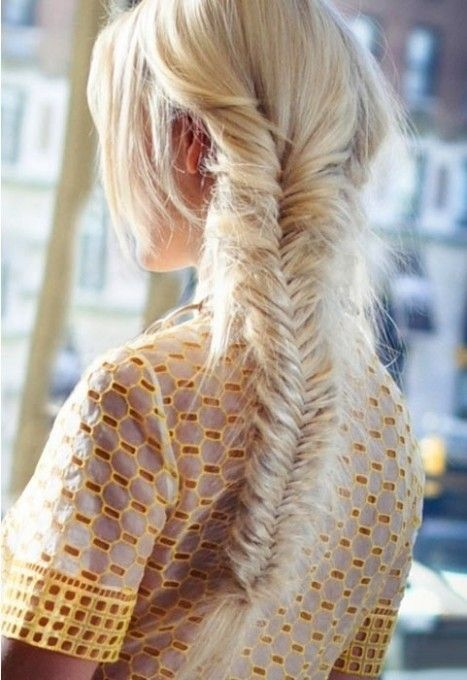 A fishtail braid straight from the Tory Burch runway. #getzesty