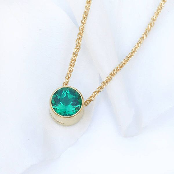 Lilia Nash Jewellery Emerald Necklace In 18ct Gold, May Birthstone ($865) ❤ liked on Polyvore featuring jewelry, necklaces, emerald jewellery, emerald gold necklace, emerald jewelry, birthstone necklace and gold jewelry