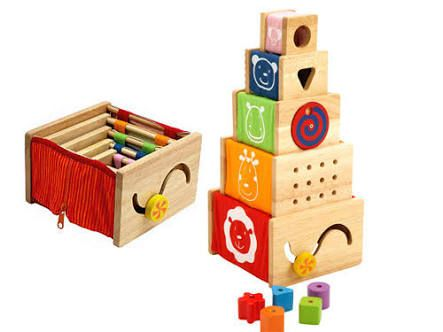 I'm Toy Wooden Stacker Best choice for babies first toys