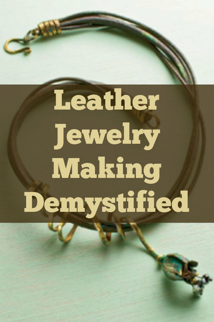 If you like leather jewelry, then you'll LOVE these 3 FREE projects on how to make leather jewelry! #jewelrymaking #diyjewelry