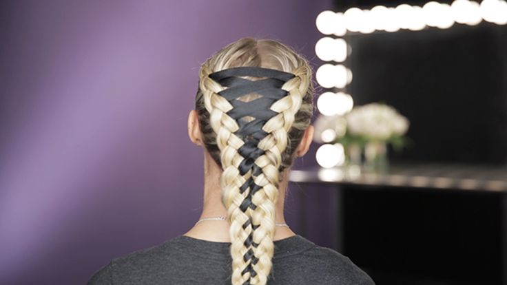 How to Do a Corset Braid: See how braid master Sarah Potempa makes the coolest design with a ribbon.