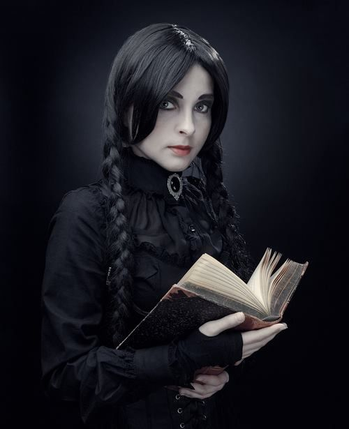 #Goth girl librarian? Perhaps she's planning a murder...
